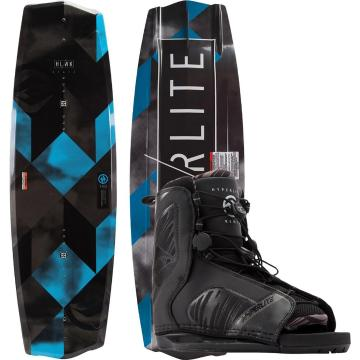 Hyperlite 2019 State 135 Wakeboard + Remix Black Boots Package - Black
