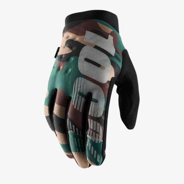 Ride 100% 2019 Brisker Gloves - Camo Black
