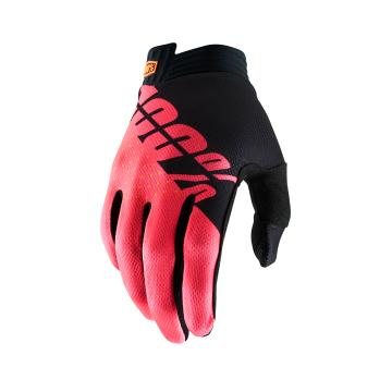 Ride 100% iTrack Gloves - Black/Fluo Red