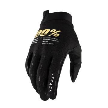 Ride 100% Itrack Youth Gloves  -  Black