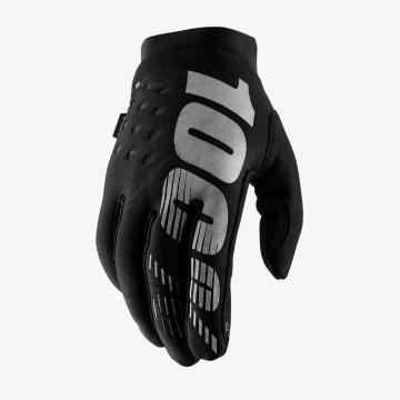 Ride 100% Youth Brisker Glove - Black/Grey S - Black/Grey