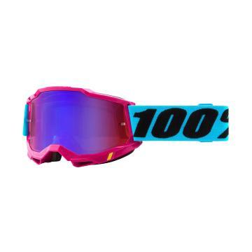 Ride 100% ACCURI 2 Goggles - Lefleur/Mirror Red/Blue Lens