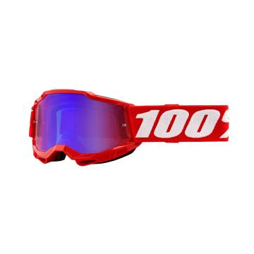 Ride 100% ACCURI 2 Youth Goggles - Red/Mirror Red/Blue Lens