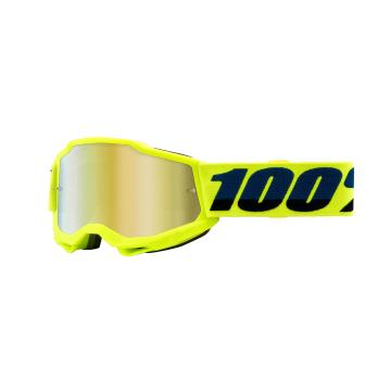 Ride 100% ACCURI 2 Youth Goggles - Yellow/Mirror Gold Lens