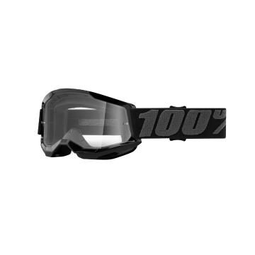 Ride 100% STRATA 2 Youth Goggles - Black/Clear Lens