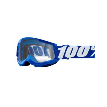 Ride 100% STRATA 2 Youth Goggles - Blue/Clear Lens