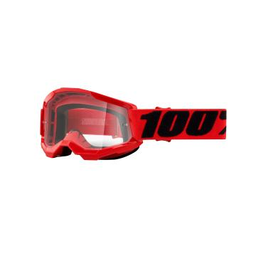 Ride 100% STRATA 2 Youth Goggles - Red/Clear Lens
