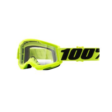 Ride 100% STRATA 2 Youth Goggles - Yellow/Clear Lens