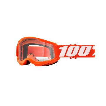 Ride 100% STRATA 2 Youth Goggles - Orange/Clear Lens