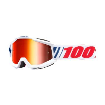 Ride 100% Accuri Goggles - AF066 with Red Mirror Lens - AF066/Mirror Red Lens