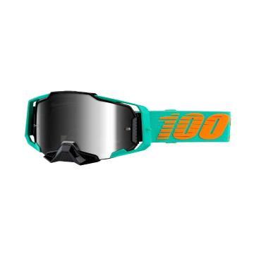 Ride 100% Armega Moto Goggles - Clark/Silver Flash Mirror Lens