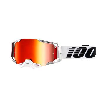 Ride 100% Armega Moto Goggles - Lightsaber/Mirror Red Lens - Lightsaber/Mirror Red Lens
