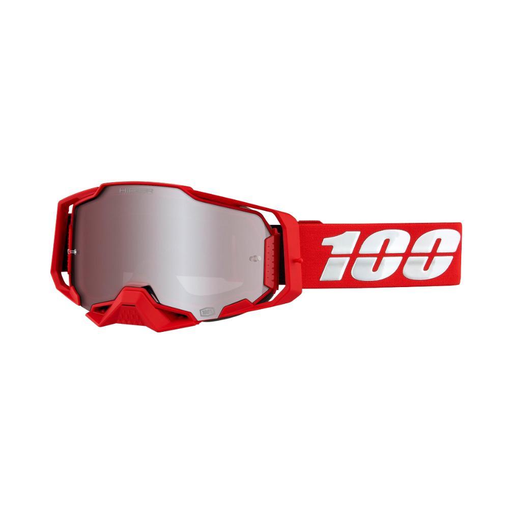 Armega Moto Goggles - Red/HiPER Silver Lens