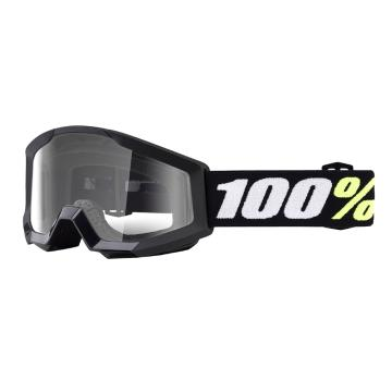 Ride 100% Strata Mini Goggles - Black Clear Lens