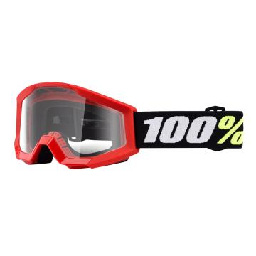 Ride 100% Strata Mini Goggles - Red Clear Lens