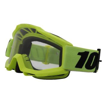 Ride 100% 2018 Accuri OTG Goggles - Fluo Yellow/Clear Lens