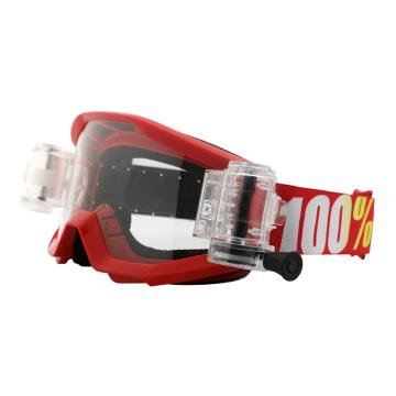 Ride 100% 2018 Strata Goggles w/ Roll-Off System - Furnace/Clear Lens
