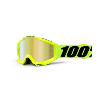 Ride 100% 19 MX Accuri Youth Goggle - Fluoro Yellow/Mirror Red Lens