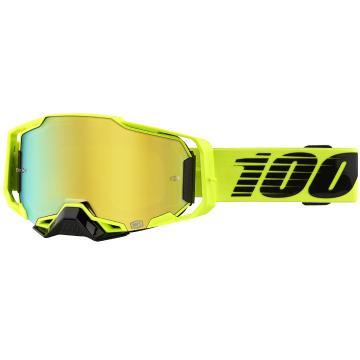 Ride 100% Armega Goggles - Nuclear Citrus/GoldMirror Lens