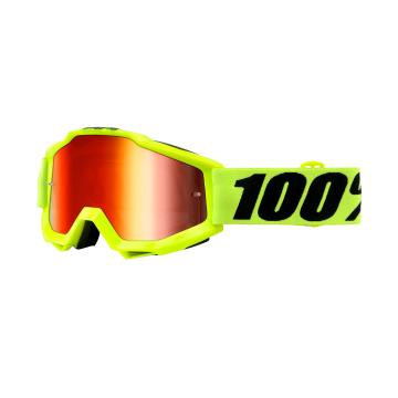 Ride 100% Accuri Moto Goggle - Mirror Lens - Yellow Gold/Mirror Lens