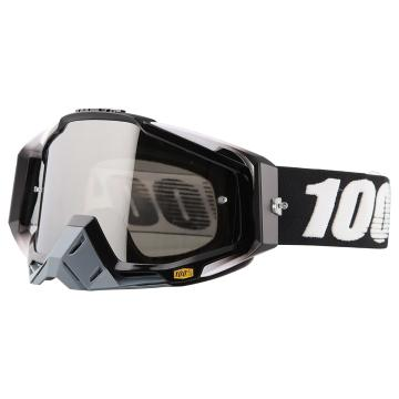 Ride 100% Racecraft Moto Goggles - Abyss Black/Mirror Silver Lens