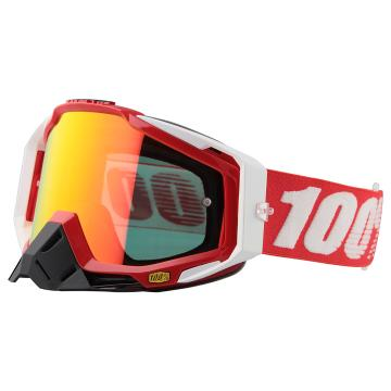 Ride 100% Racecraft Moto Goggles - Fire Red/Mirror Red Lens