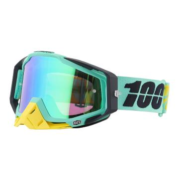 Ride 100% 2017 Racecraft Moto Goggles - Spare Lens and Tear-offs - Kloog/Mirror Green Lens