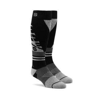 Ride 100% Torque Comf Moto Socks - Black/Grey