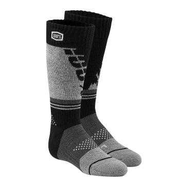 Ride 100% Hi Side Perf Moto Socks - Black/Grey