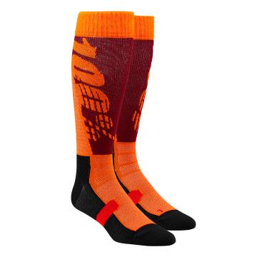 Ride 100% Hi Side Perf Moto Socks - Burgundy