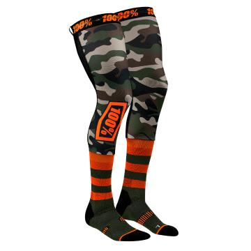 Ride 100% Rev Knee Brace Perf Moto Socks - Camo
