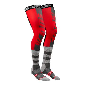 Ride 100% Rev Knee Brace Perf Moto Socks - Red