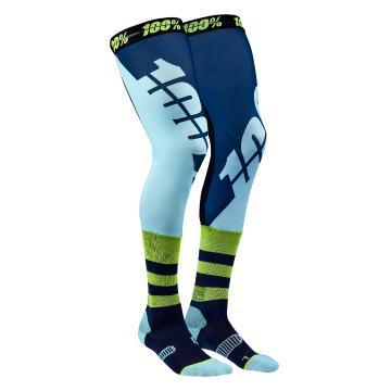 Ride 100% Rev Knee Brace Perf Moto Socks - Navy