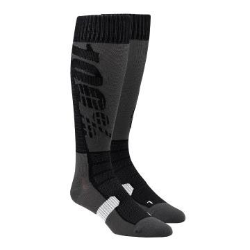 Ride 100% Torque Youth Moto Socks - Black/Grey
