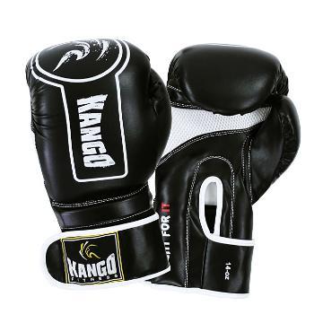 Kango Boxing Gloves BVK040 BLK 14oz - Black
