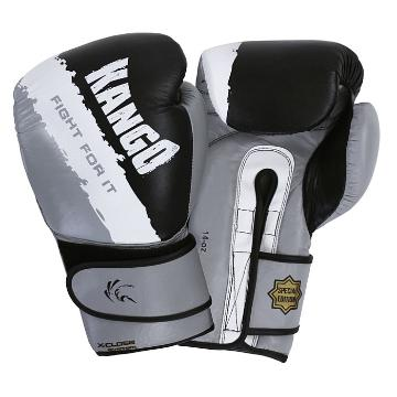 Kango Boxing Gloves BAK022 BGW 14oz - Black/Grey