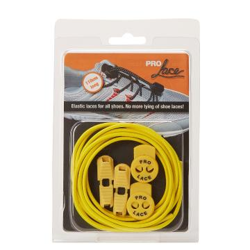Pro Lace Elastic No Tie Laces - Solid Yellow Flouro