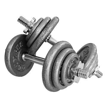 Olympus 20kg Dumbbell Set - Deluxe - Grey