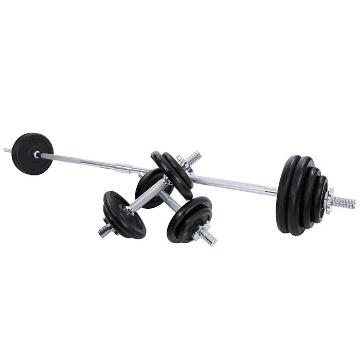 Olympus 50kg Cast Iron Barbell Set