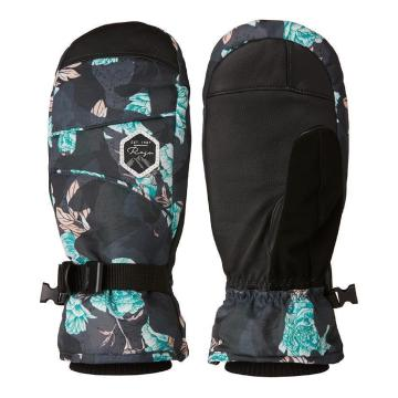 Rojo Women's Task Mitts - Floral Camo Blue Nights