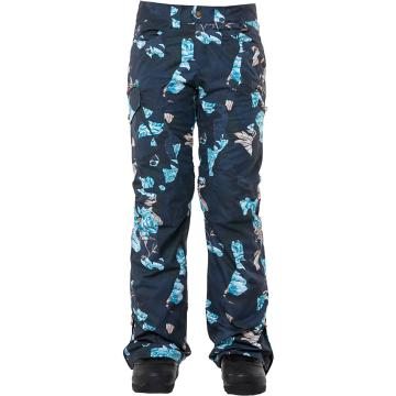 Rojo   Women's Snow Culture Pant - Floral Camo Blue Nights