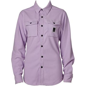 Rojo   Womens Main Street Microfleece Shirt - Smokey Grape