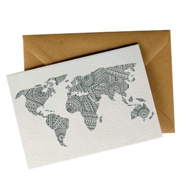 Little Difference World Map Pattern Gift Card