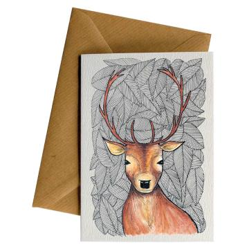 Little Difference Pattern Deer Gift Card