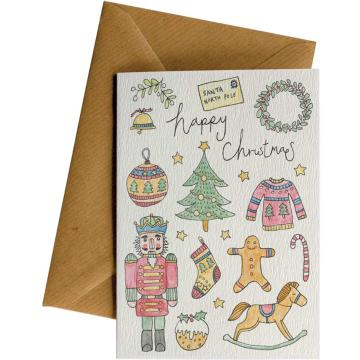Little Difference Happy Christmas Toys Gift Card