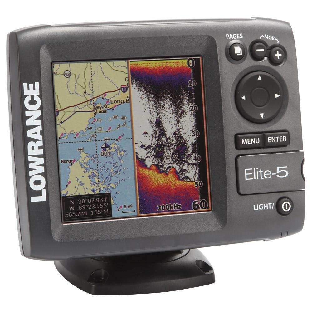 lowrance elite 5 chartplotter sounder electronics torpedo7 nz. Black Bedroom Furniture Sets. Home Design Ideas
