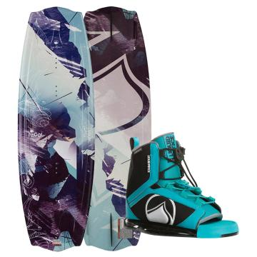 Liquid Force 2018 Women's Angel Wakeboard + Plush Binding Package
