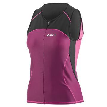 Louis Garneau Comp Sleeveless Tri Cycle Jersey - Black/Purple/Pink