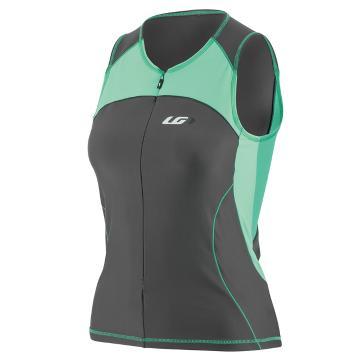Louis Garneau Comp Sleeveless Tri Cycle Jersey - Grey/Green