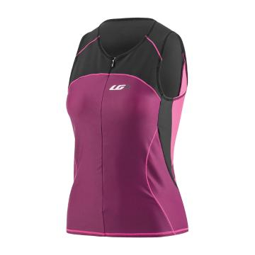 Louis Garneau Women's Comp Sleeveless Triathlon Cycle Jersey - Black/Purple
